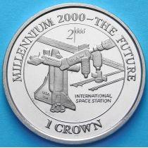 Остров Мэн 1 крона 2000 год. Международная космическая станция.