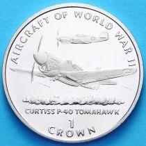 """Остров Мэн 1 крона 1995 год. Кёртисс P-40 """"Томагавк"""