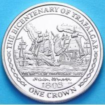 Остров Мэн 1 крона 2005 г. Битва при Трафальгаре
