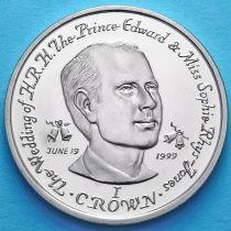 Остров Мэн 1 крона 1999 год. Принц Эдвард.