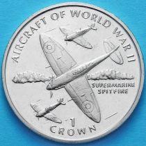 Остров Мэн 1 крона 1995 год. Супермарин Спитфайр.
