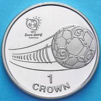 Остров Мэн 1 крона 2004 год. Чемпионат Европы по футболу