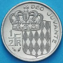Монако 1/2 франка 1976 год. Ренье III.