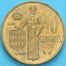 Монако 10 сантим 1977 год