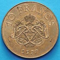 Монако 10 франков 1977 год.