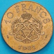Монако 10 франков 1981 год.