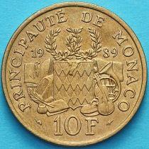 Монако 10 франков 1989 год. 25 лет со дня смерти Принца Пьера
