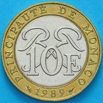 Монако 10 франков 1989 год. Всадник.