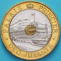 Монако 20 франков 1992 год. Княжеский дворец в Монако.