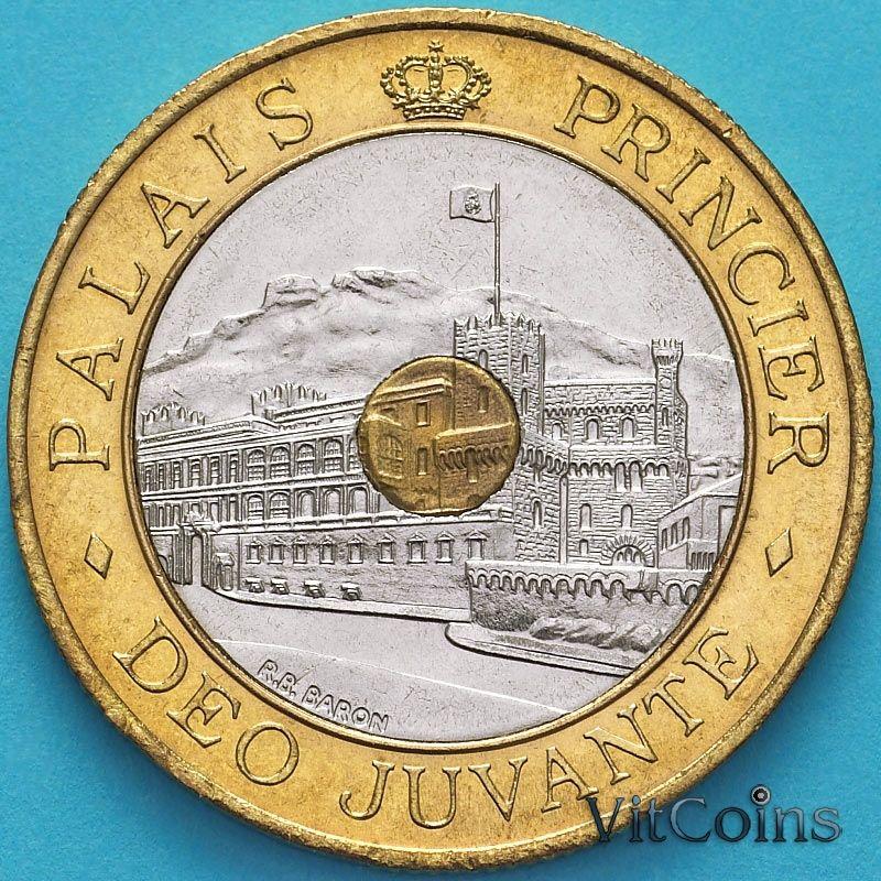 Монета Монако 20 франков 1992 год. Княжеский дворец в Монако.
