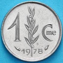 Монако 1 сантим 1978 год.