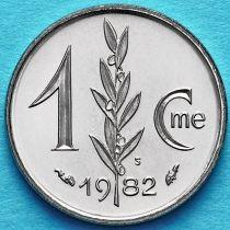 Монако 1 сантим 1982 год.