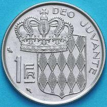 Монако 1 франк 1968 год. Ренье III.