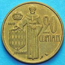Монако 20 сантим 1962 год.