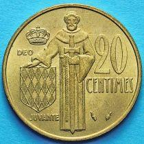 Монако 20 сантим 1976-1982 год.