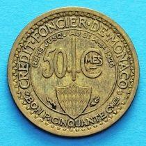 Монако 50 сантимов 1924 год. №1.