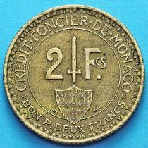Монако 2 франка 1926 год