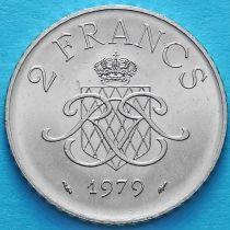 Монако 2 франка 1979-1982 год.