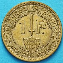 Монако 1 франк 1924 год. Геракл с луком. №1