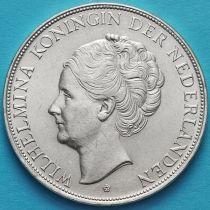 Нидерланды 2 1/2 гульдена 1939 год. Вильгельмина. Серебро.