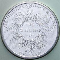 Нидерланды 5 евро 2014 год. 200 лет банку Нидерландов