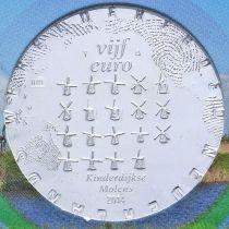 Нидерланды 5 евро 2014 год. Ветряные мельницы Киндердейка