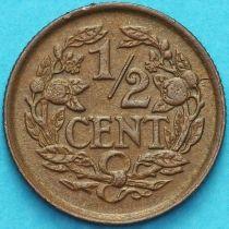 Нидерланды 1/2 цента 1937 год.