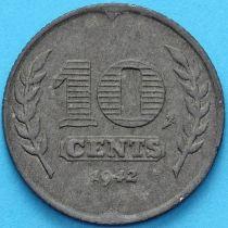 Нидерланды 10 центов 1942 год.