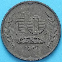 Нидерланды 10 центов 1943 год.