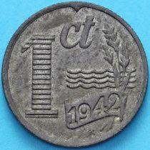 Нидерланды 1 цент 1942 год.