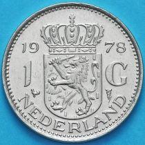 Нидерланды 1 гульден 1970-1980 год. Петух