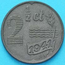 Нидерланды 2 1/2 цента 1941 год. Цинк.