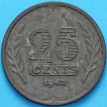 Нидерланды 25 центов 1942 год.