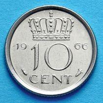 Нидерланды 10 центов 1951-1980 год.