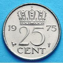 Нидерланды 25 центов 1955-1980 г.