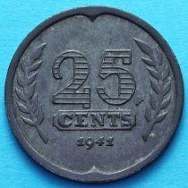 Нидерланды 25 центов 1941-1944 год.