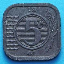 Нидерланды 5 центов 1941-1942 год.