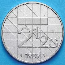 Нидерланды 2 1/2 гульдена 1989 год.