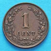 Нидерланды 1 цент 1878-1898 год.