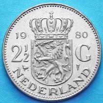 Нидерланды 2 1/2 гульдена 1980 год.
