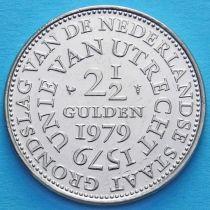 Нидерланды 2 1/2 гульдена 1979 год. 400 лет Утрехтской унии.