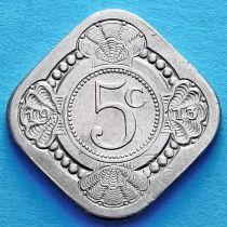 Нидерланды 5 центов 1913 год.