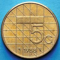 Нидерланды 5 гульденов 1988-1990 год
