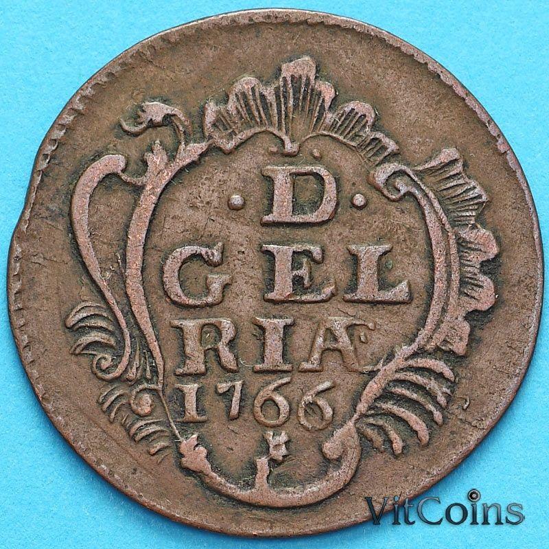 Монета Нидерланды, Провинция Гелдерланд 1 дуит 1766 год.