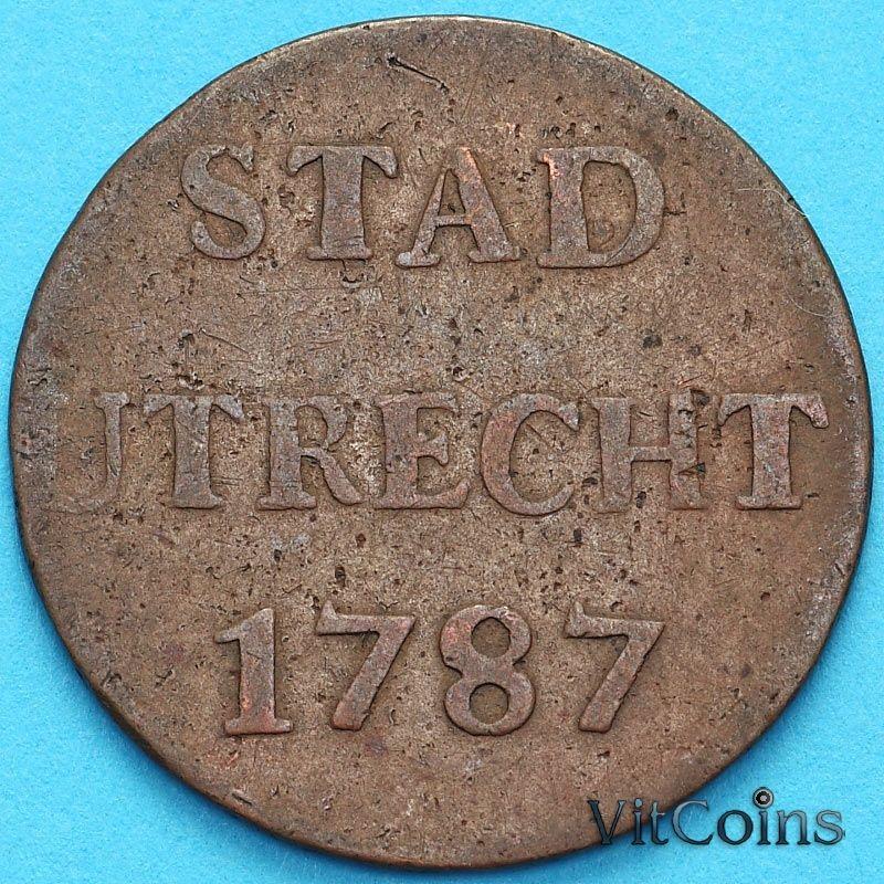 Монета Нидерланды, Утрехт 1 дуит 1787 год.