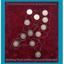 Нидерланды набор 12 монетовидных жетонов 5 центов 1981 год. Провинции.