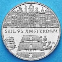 Нидерланды токен 2 экю 1995 год. Галеон Амстердам.