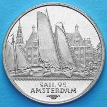 """Нидерланды токен 2 экю 1995 год. Парусник """"Friese"""""""