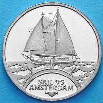 Нидерланды токен 2 экю 1995 год. Корабль «Eendracht 1».
