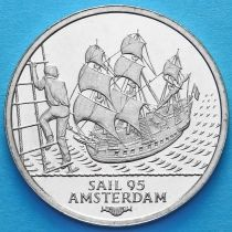 """Нидерланды токен 2 экю 1995 год. Парусник """"Batavia""""."""